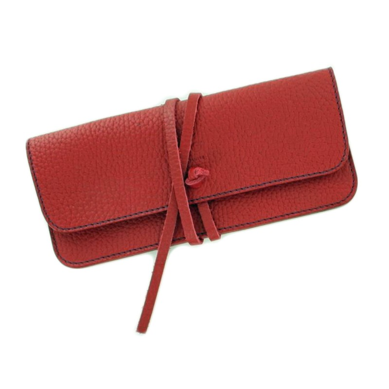 Red glasses case