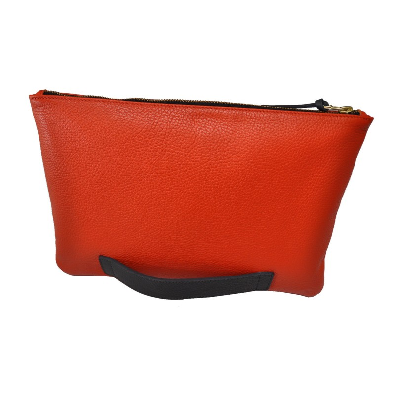 Large pouch orange and grey