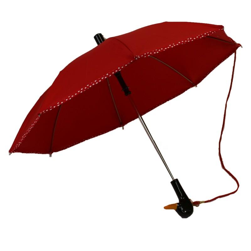 Children's umbrella plain red bias polka dots