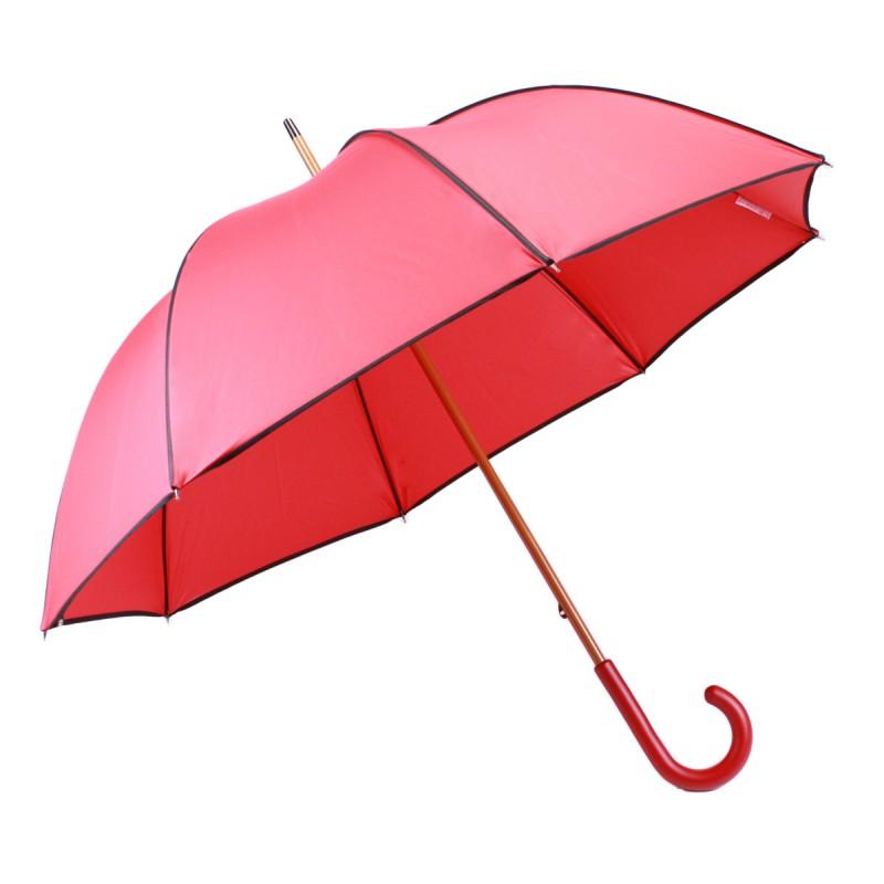 Elegant red and black long umbrella
