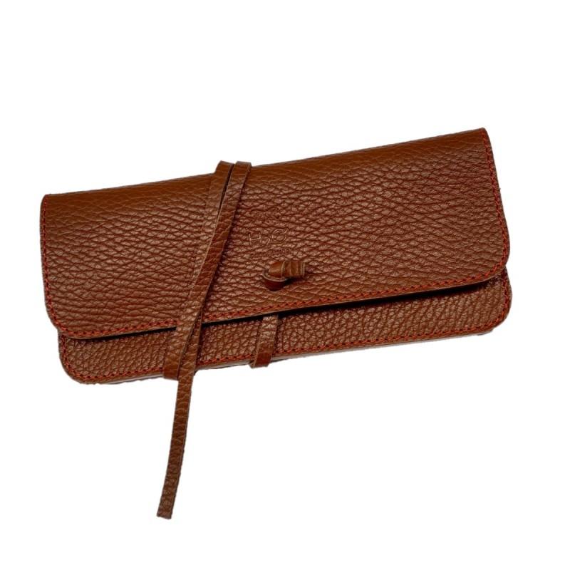Brown glasses case