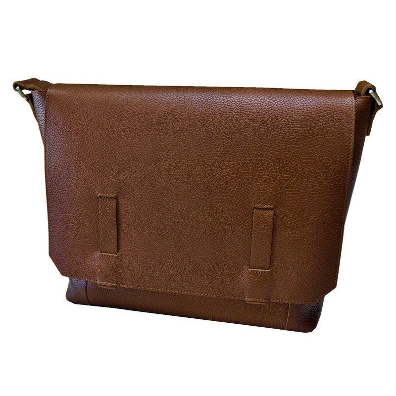 Brown leather mailbag