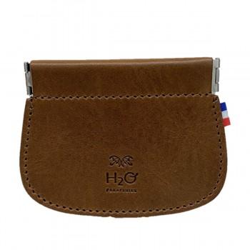 Brieftasche aus cognac Leder