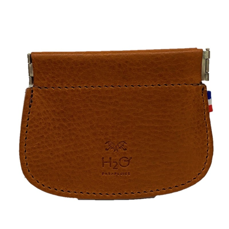 Whisky leather clic clac wallet