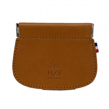 Leather clic clac wallet
