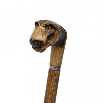 Poignée sculptée tigre
