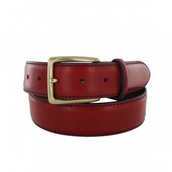 Prestige red belt with navy...