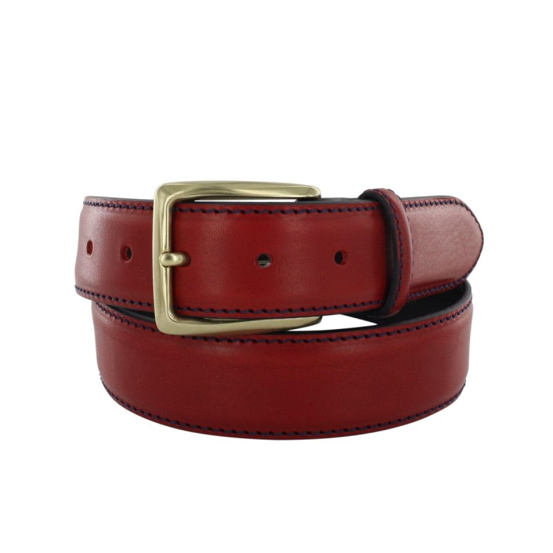 Prestige red belt with navy lining.