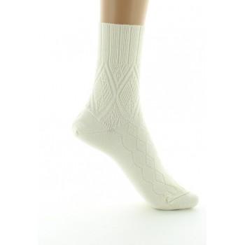 Perrin Ecru Wool Organic Socks