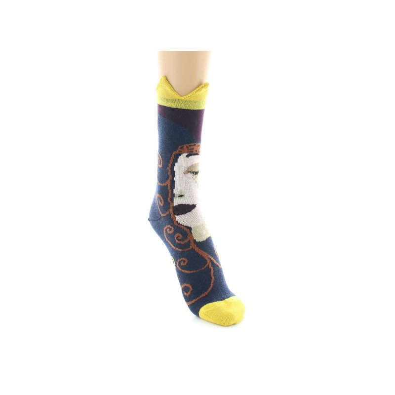 Berthe Aux Grands Pieds tall sock with face pattern