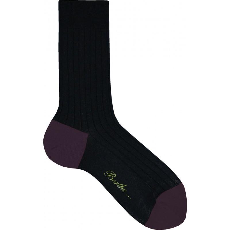 Berthe Aux Grands Pieds hohe Socke schwarz und violett