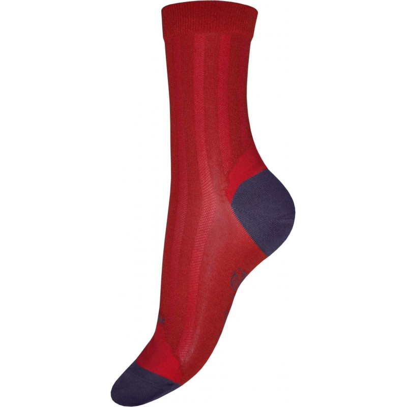 Berthe Aux Grands Pieds red and purple silk sock