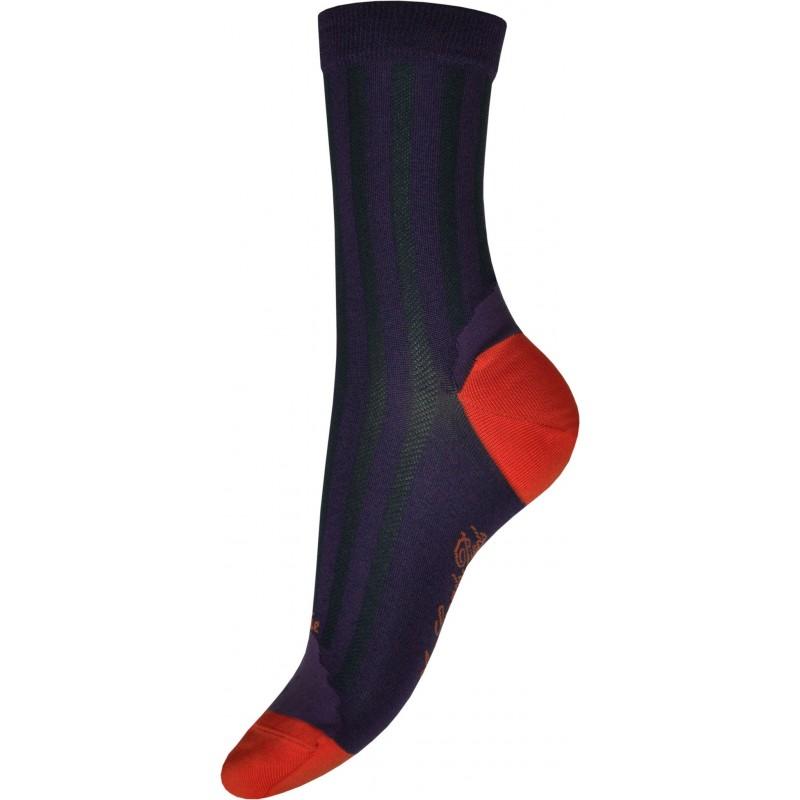 Berthe Aux Grands Pieds silk sock purple and orange