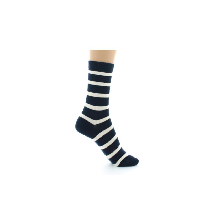 Perrin marinière cotton sock navy blue