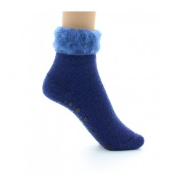 Non-slip slipper in blue...