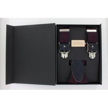 Burgundy straps with navy...