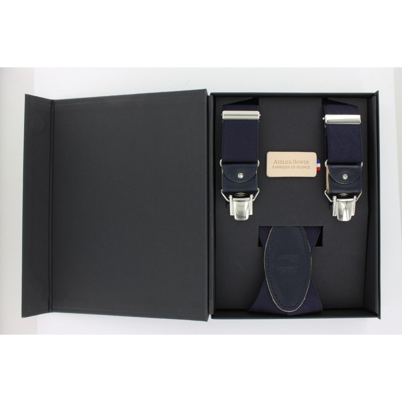 Asymmetrical navy blue straps