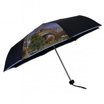 Mini blauer Regenschirm mit...
