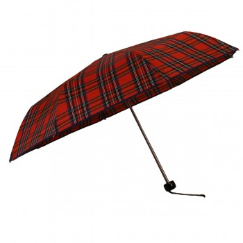 Red mini tartan umbrella