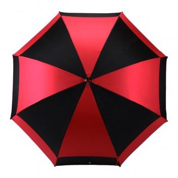 Parapluie Moulin rouge et noir demi-golf