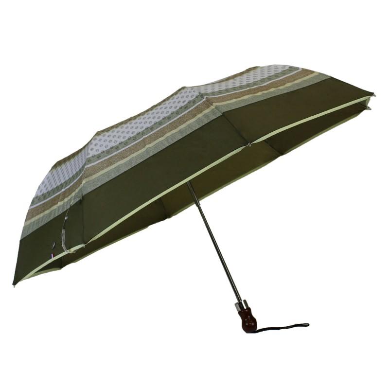 Folding umbrella green with stripes