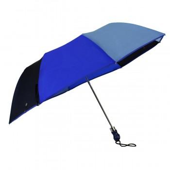 Parapluie pliant camaïeu bleu