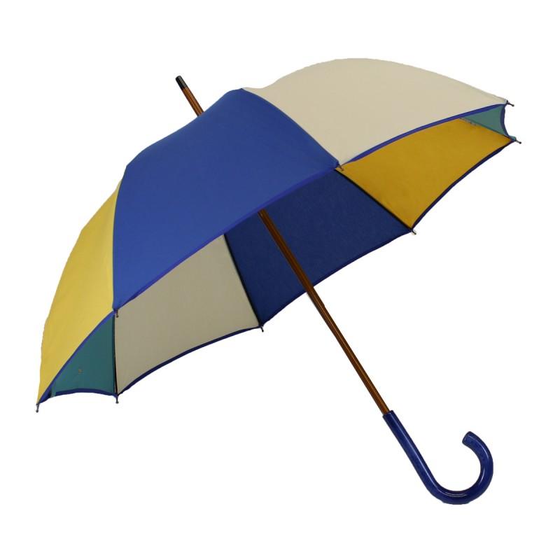 Mehrfarbig mittel Regenschirm blau gelb weiß