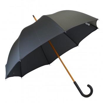 Langer Schirm Jacquard grau