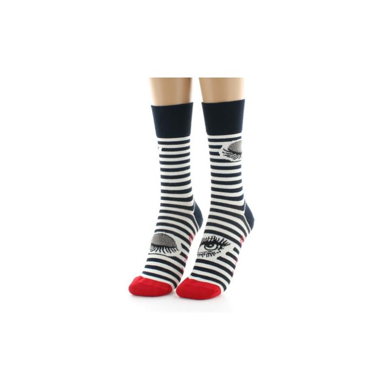 Berthe Aux Grands Pieds Socke zwinkern