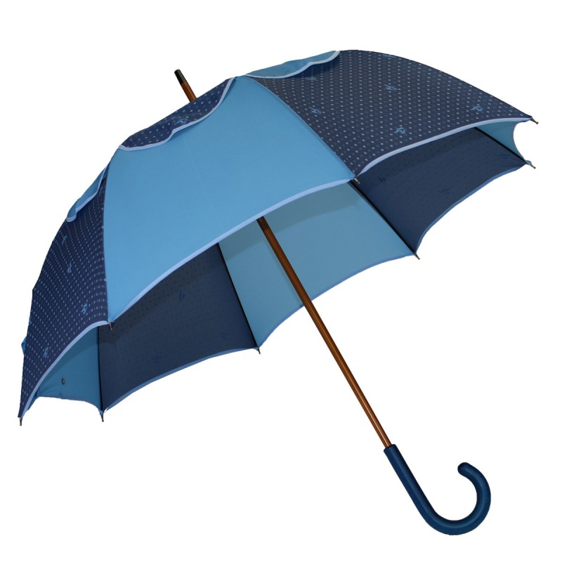 Passvent blue umbrella with small diamond pattern