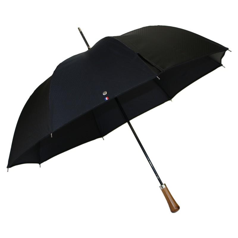 Parapluie automatique long noir motif cordage