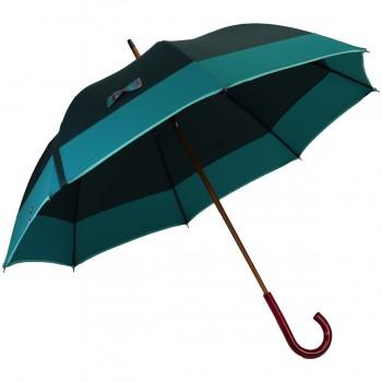Parapluie long vert à bande...