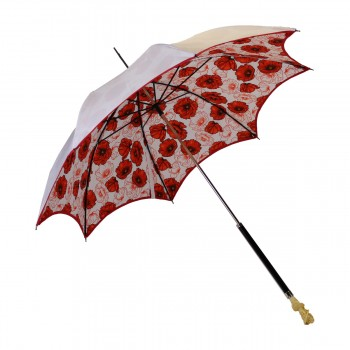 Anti-UV white umbrella with...