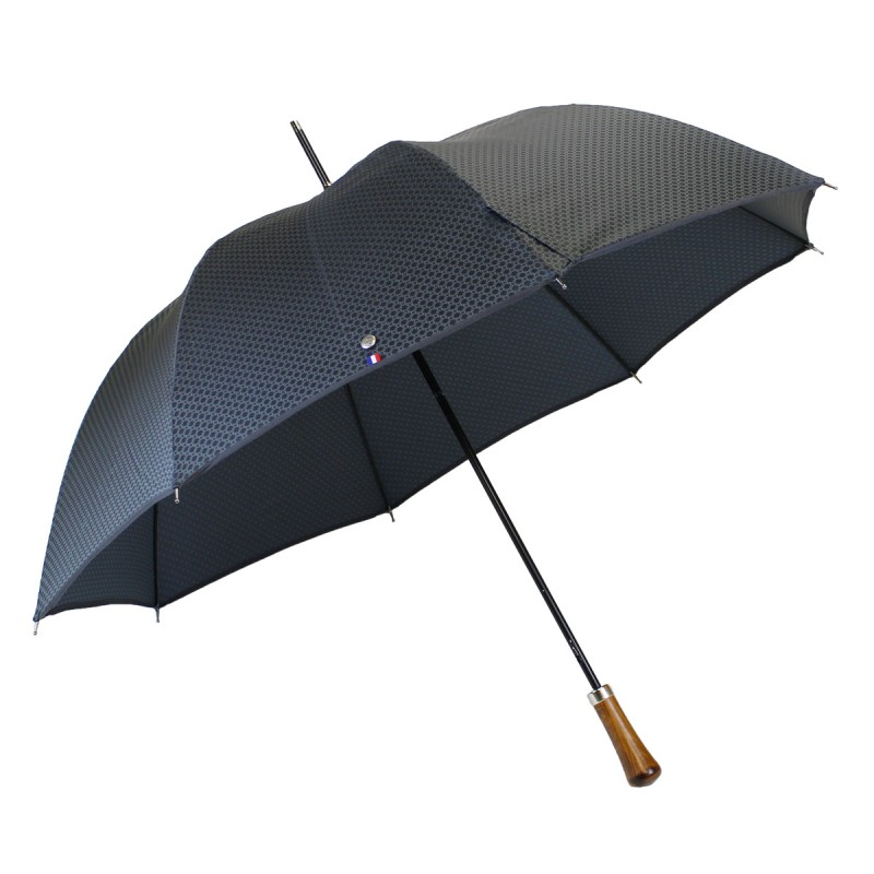 Automatic long grey umbrella with rope pattern