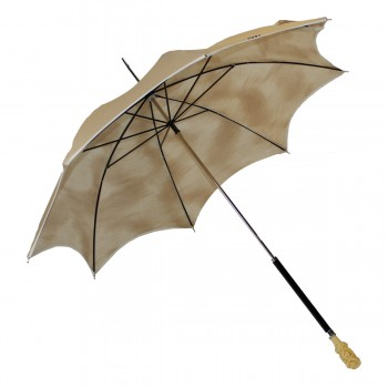 Beige anti UV umbrella with...