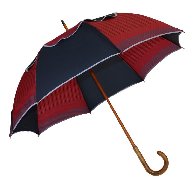Passvent navy blue and red striped umbrella