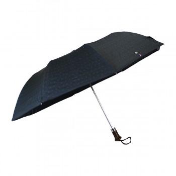 Parapluie pliant jacquard gris