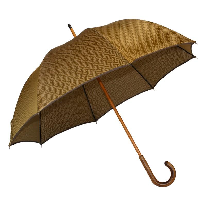Brown and gold diamond woven umbrella