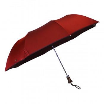 Red woven folding umbrella