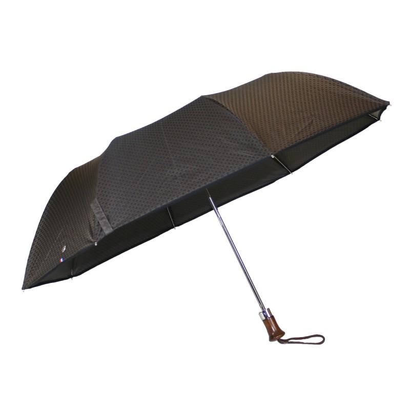 Brown jacquard folding umbrella