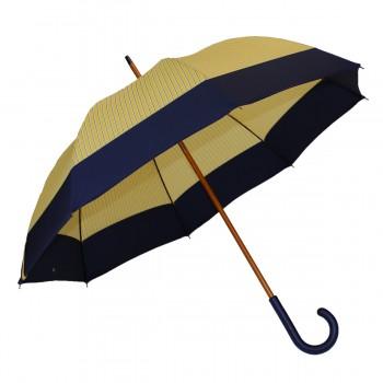 Yellow striped umbrella...