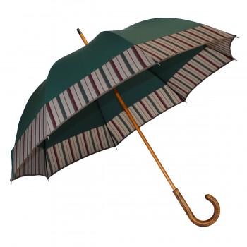 Parapluie long vert et...