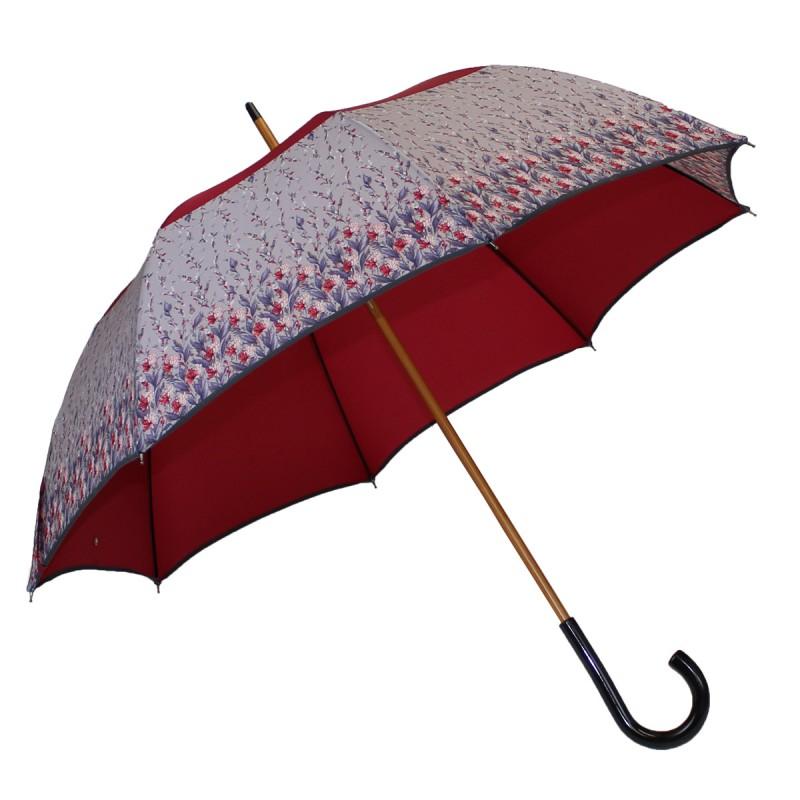 Long umbrella vice versa magenta with small flowers