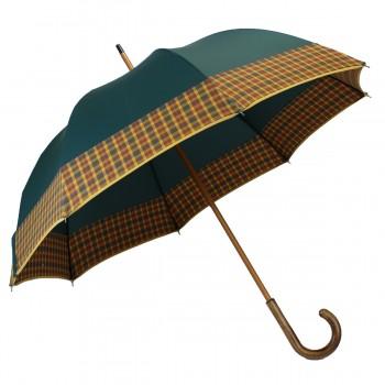 Long green umbrella with...