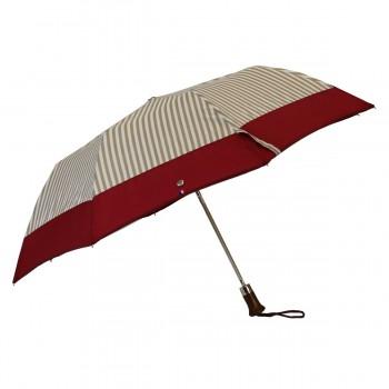 Parapluie pliant a rayures...
