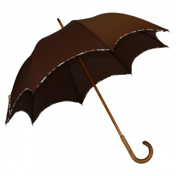 Parapluie long chic marron...