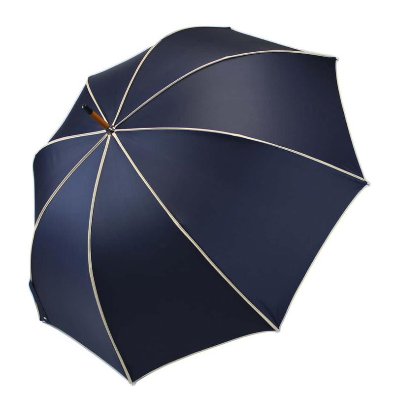 Parapluie Élégant bleu marine et beige