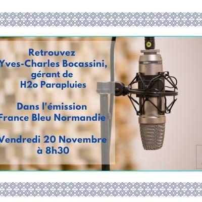 A vos radio!📻 Demain à 8h30, Yves Charles Boccasini sera à l'antenne sur France Bleu, animé par Sylvain Cotigny, pour parler de H2o Parapluies!☂️  👉Retrouvez votre fréquence :  https://www.francebleu.fr