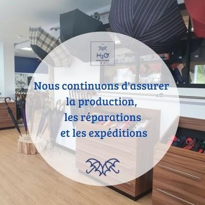 ☂️La boutique☂️  Suite aux annonces gouvernementales, la boutique sera fermée pour les 4 semaines à venir😢 En revanche, nous continuons la production, les expéditions de vos commandes internet ainsi que les réparations☂️  #parapluies  #madeinfrance🇫🇷 #fermeture  #commande  #reparations  #artisanal