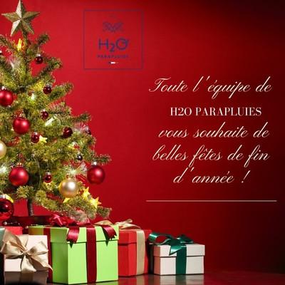 Toute l'équipe H2O Parapluies vous souhaite un Joyeux Noël ! 🎅🎁